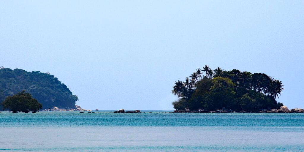 Inseln beim Nai Yang beacht Thailand